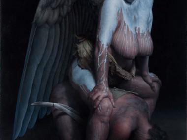 James Guppy – Miscreants burden -2012  acrylic on linen  137 x 92 cm