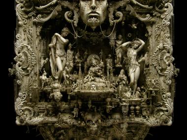 Kris Kuksi –  Eden – sculpture