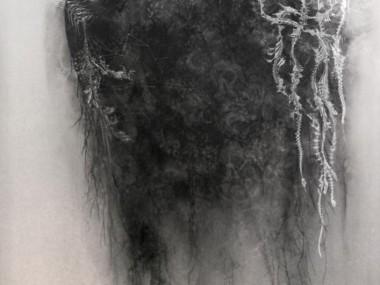 Marie-josee Roy – L'Onde Cantique 84×60, technique mixte sur aluminium, gravure au burin- Jerome Prieur