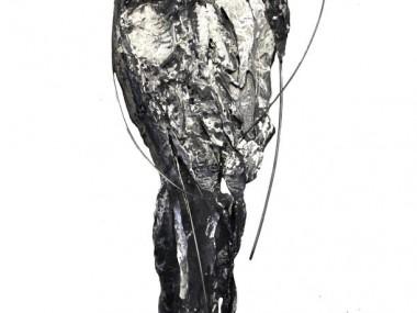 Marie-josee Roy – Le Cantique des Cantiques, 42x16x3 acier, bronze, sculpture murale