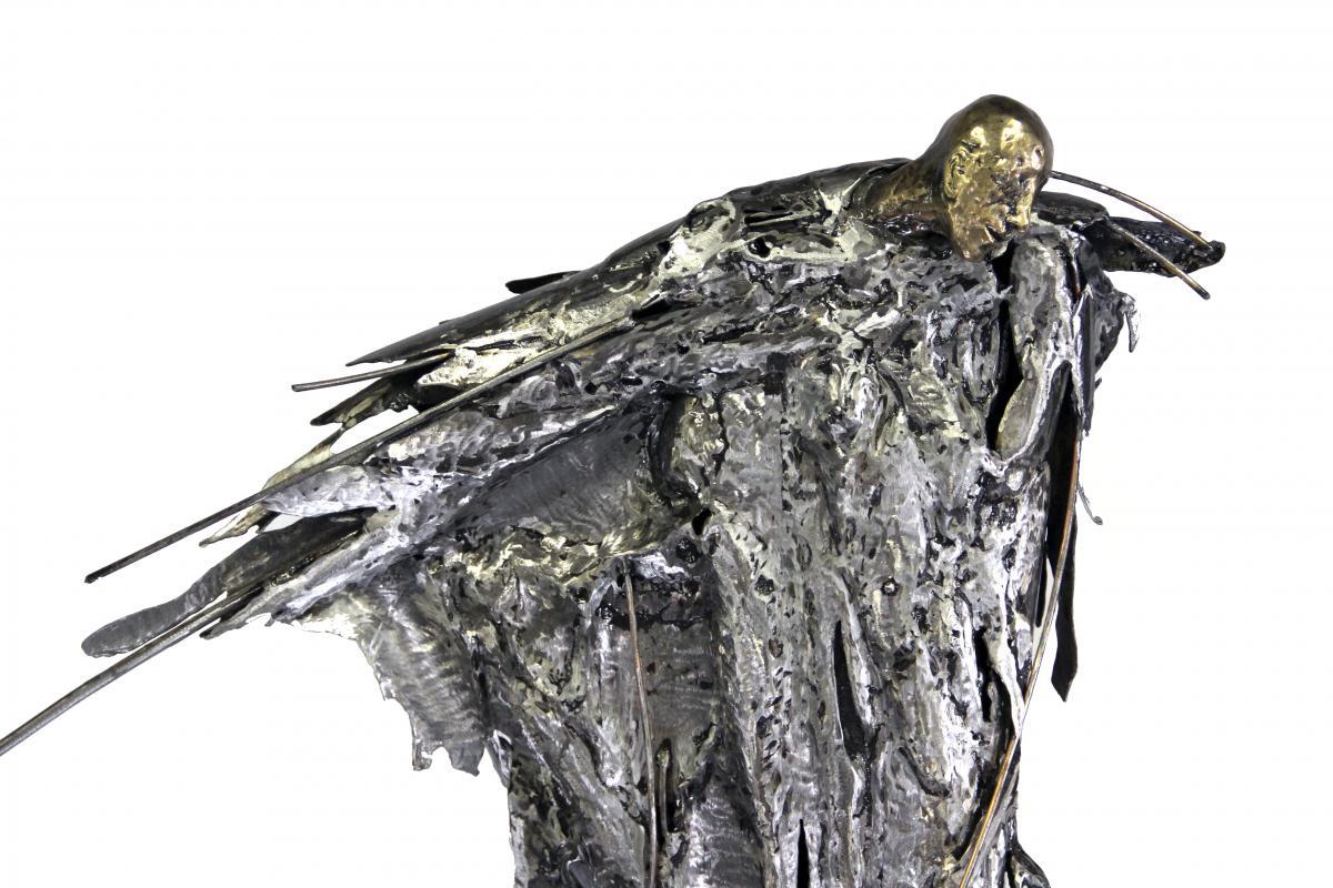 Marie-josee Roy – Sculpture Le pieu, détail