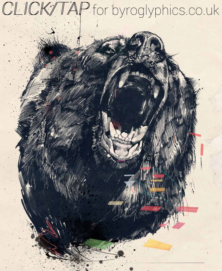 Russ Mills – bear digitale illustration