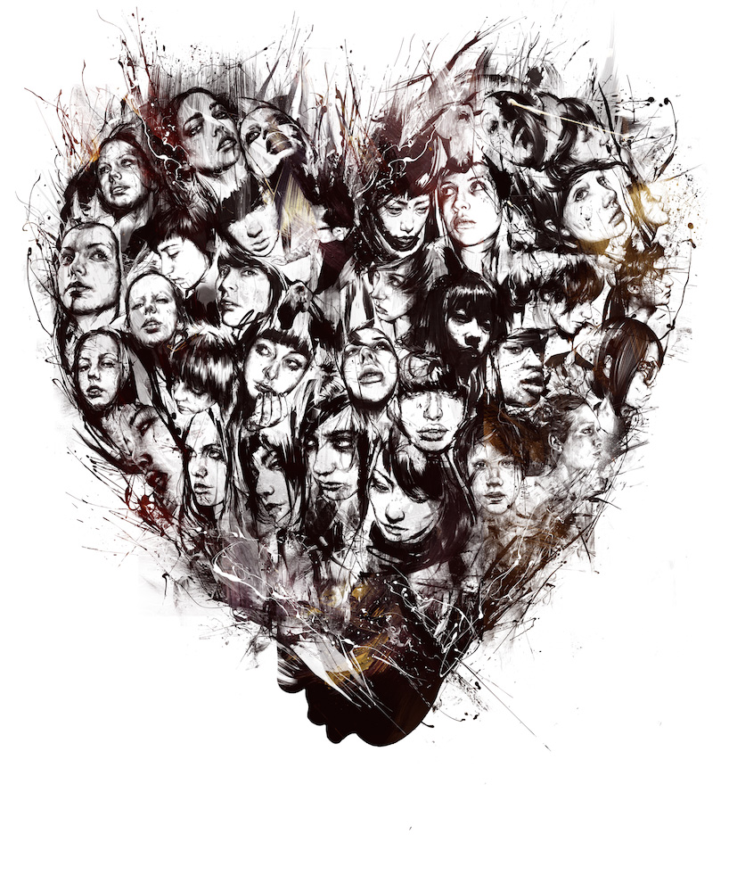 Russ Mills – heart / digitale illustration