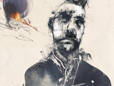 Russ Mills – selfie_redo / digitale illustration