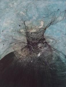 "nathalie deshairs - Peinture ""le cygne noir"""