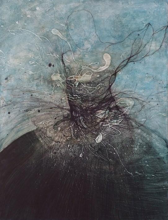 "nathalie deshairs – Peinture ""le cygne noir"""