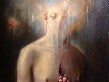 Agostino Arrivabene – Il cantico del respiro genera promesse – 2014 – Oil on Wood
