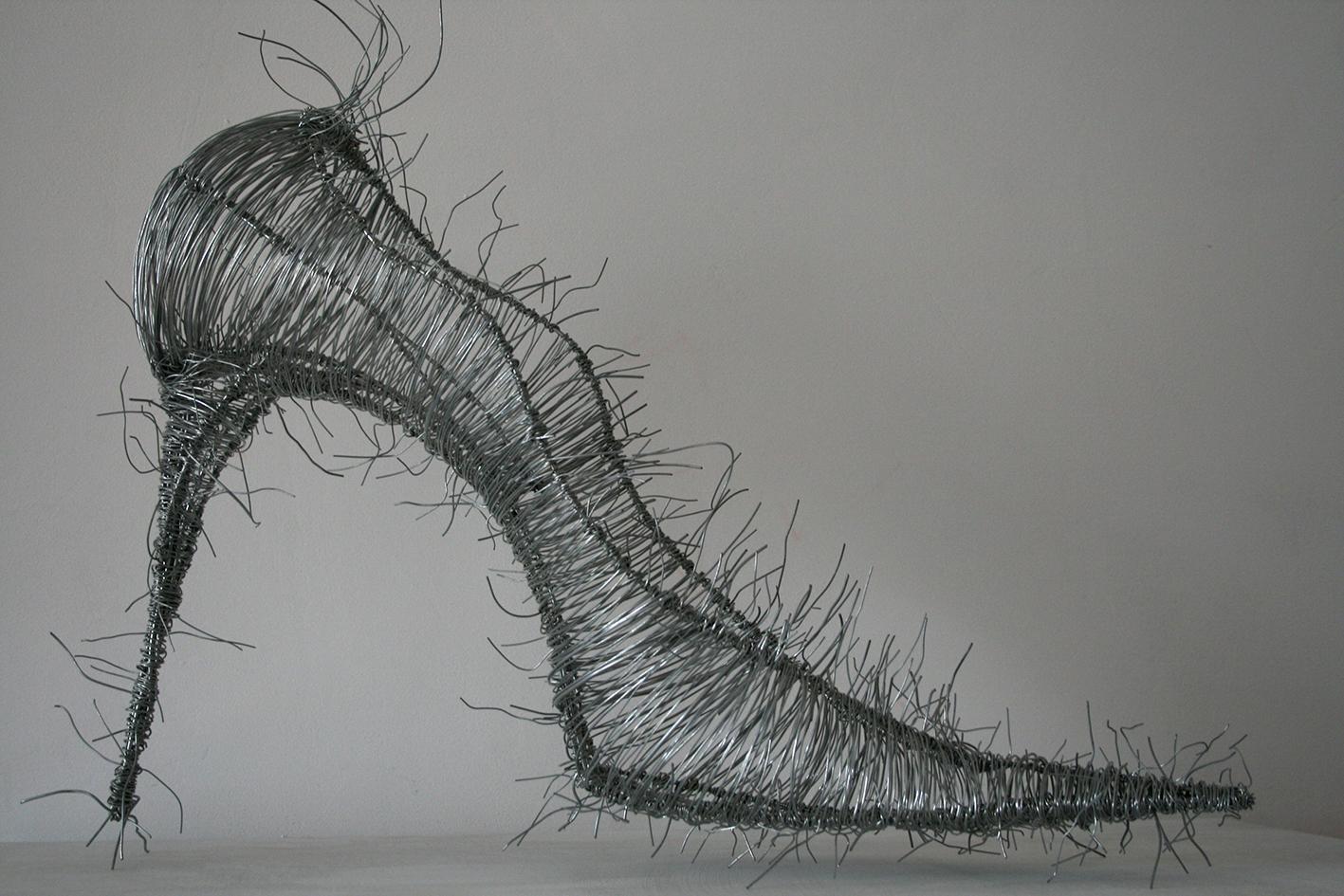 Armelle Blary – chaussure – 2008 sculpture fil de fer