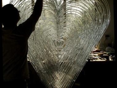 David Willis – Glass sculpture heart