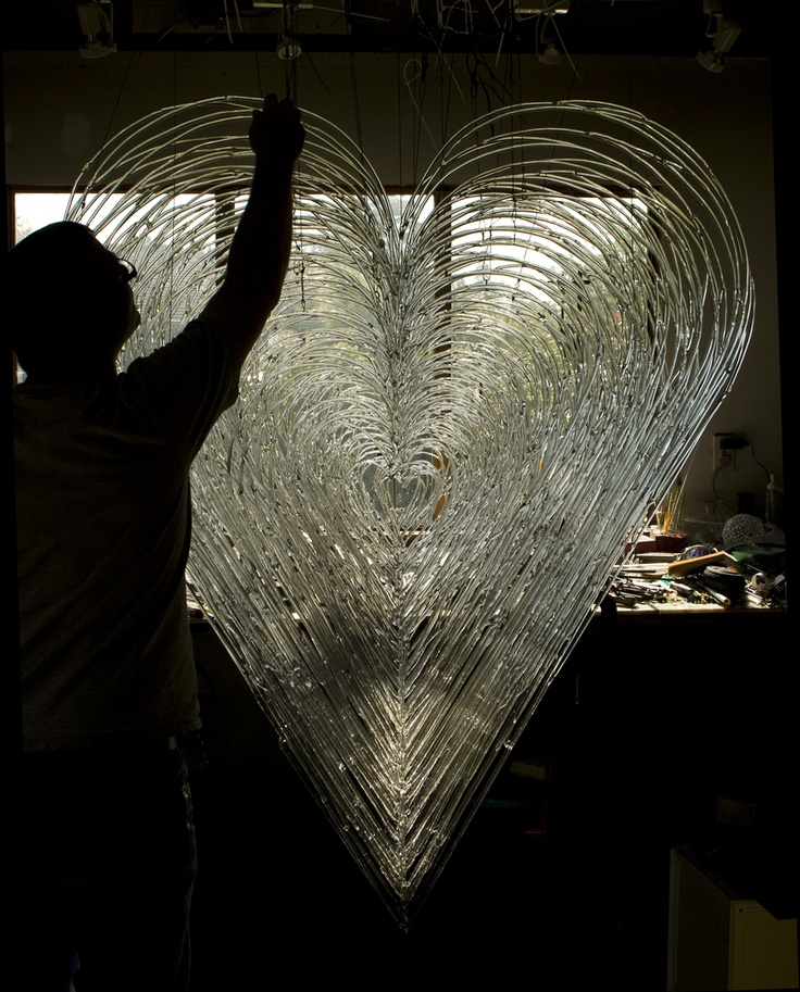 David Willis – Glass sculpture heart