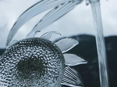 David Willis – blown and sculpted glass, assembled – flowers