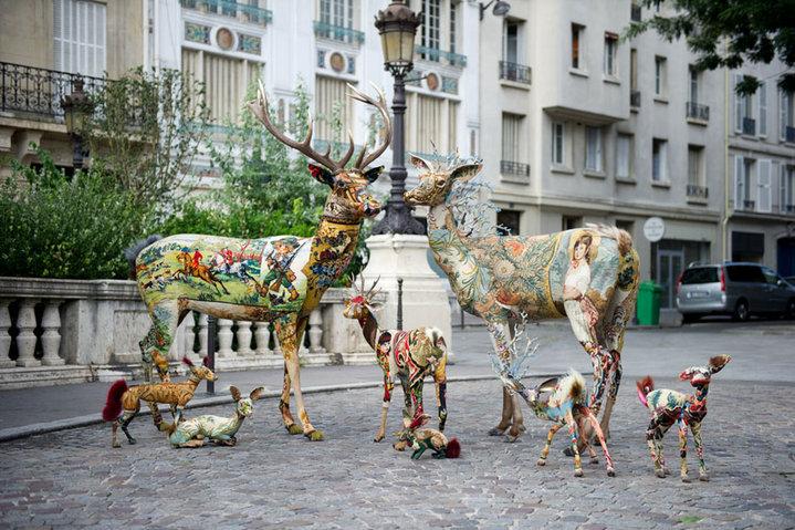 Frédérique Morrel – mixed media textile sculptures