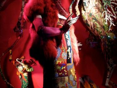 Frederique Morrel's Xmas windo at Bergdorf Goodman