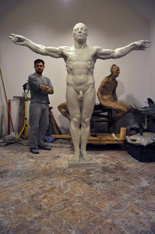 Grzegorz Gwiazda – portrait artiste sculpture