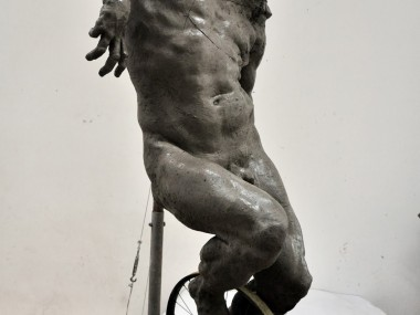 Grzegorz Gwiazda – sculpture cyclist in progress