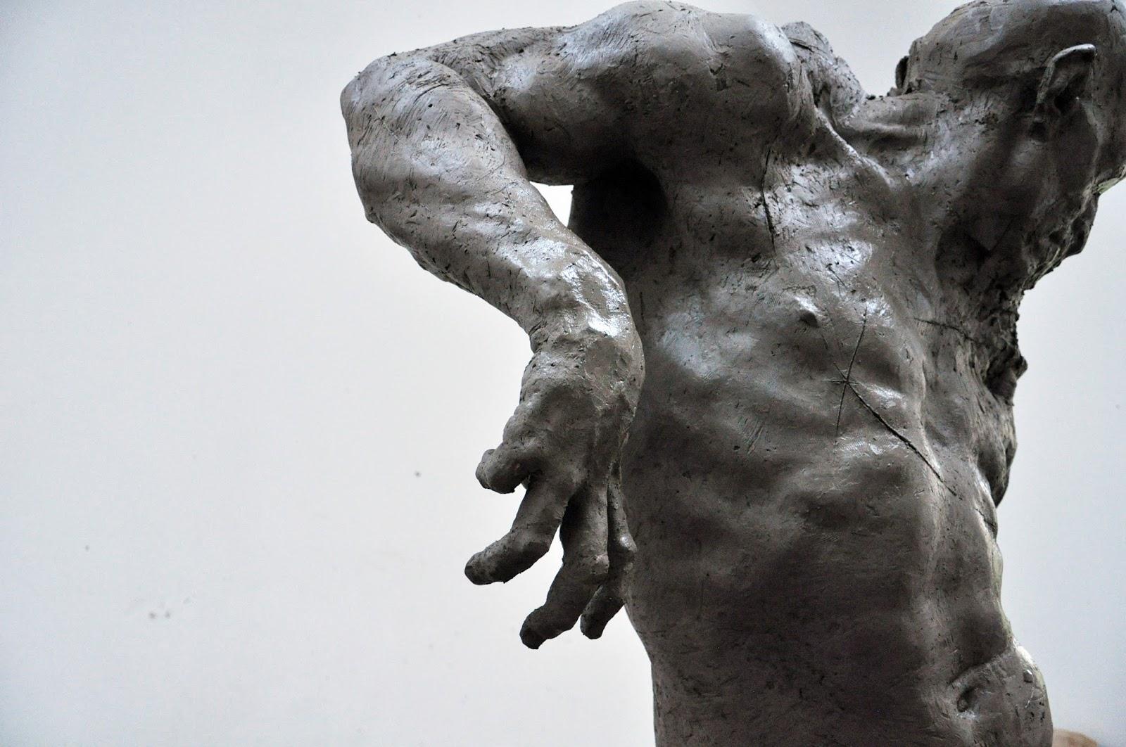 Grzegorz Gwiazda – sculpture cyclist in progress