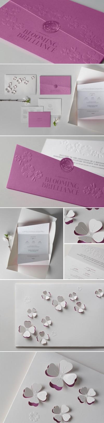 graphisme inspiration invitation - avec decoupe et gaufrage / Die-cut-Emboss