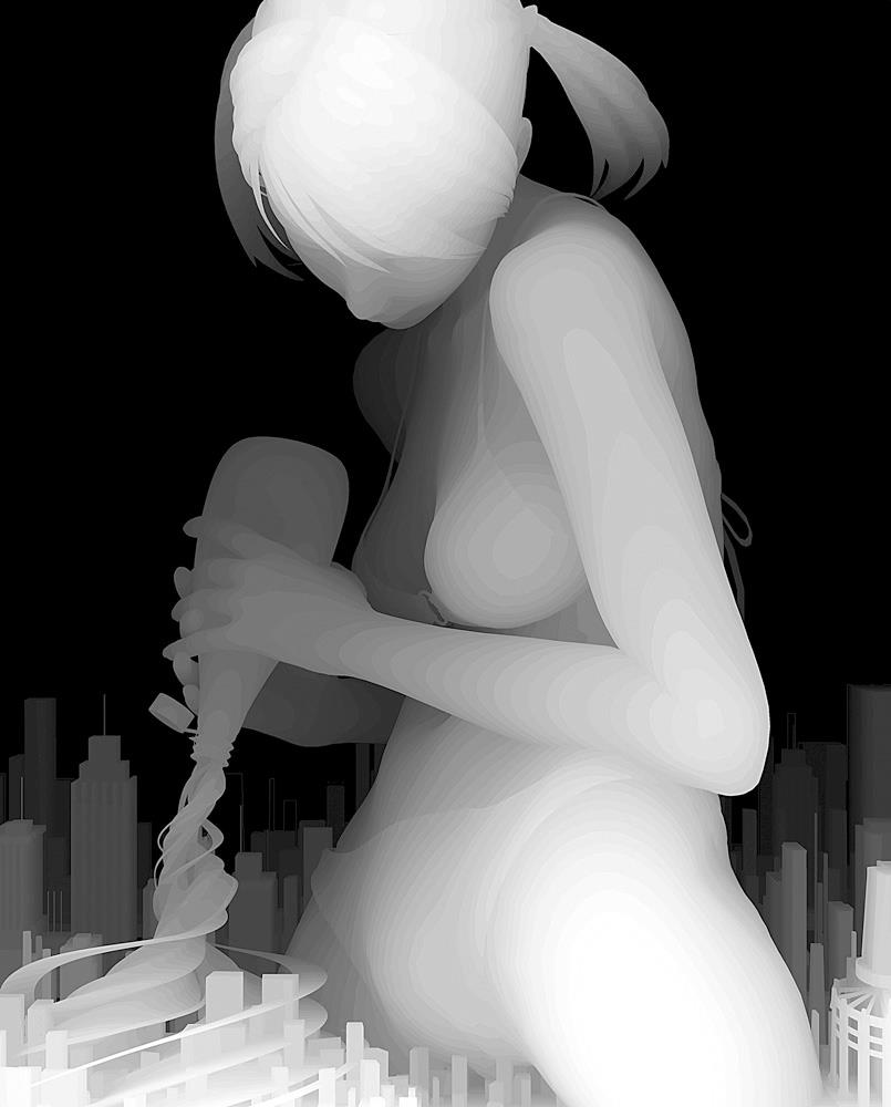 Kazuki Takamatsu – beautiful paintings – city woman