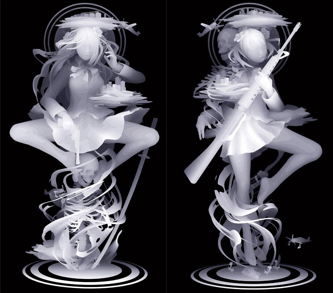 Kazuki Takamatsu – beautiful paintings monochroma