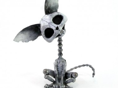 Steampunk sculptures – Igor Verniy – Cat death