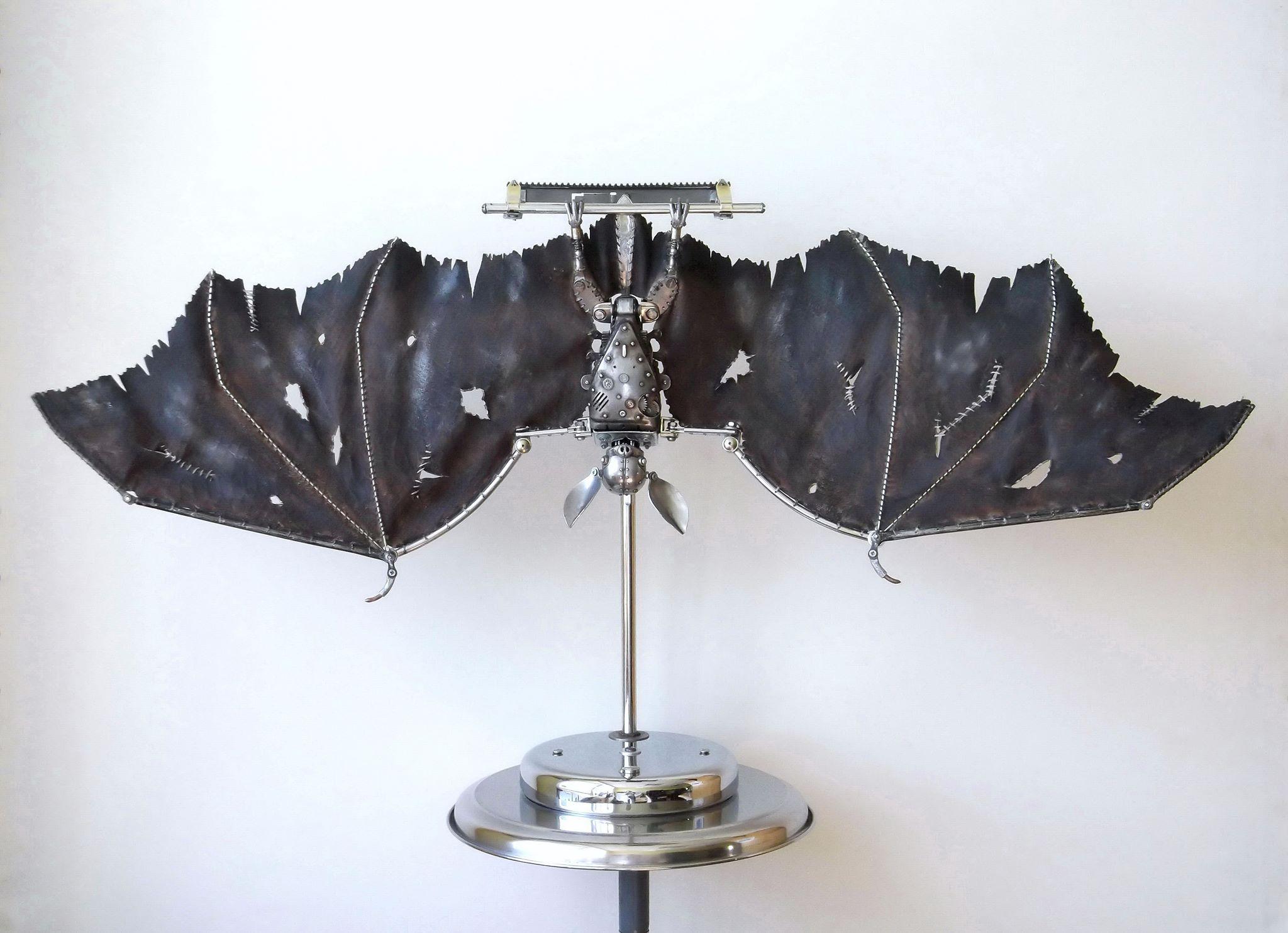 Steampunk sculptures – Igor Verniy – chauve souris