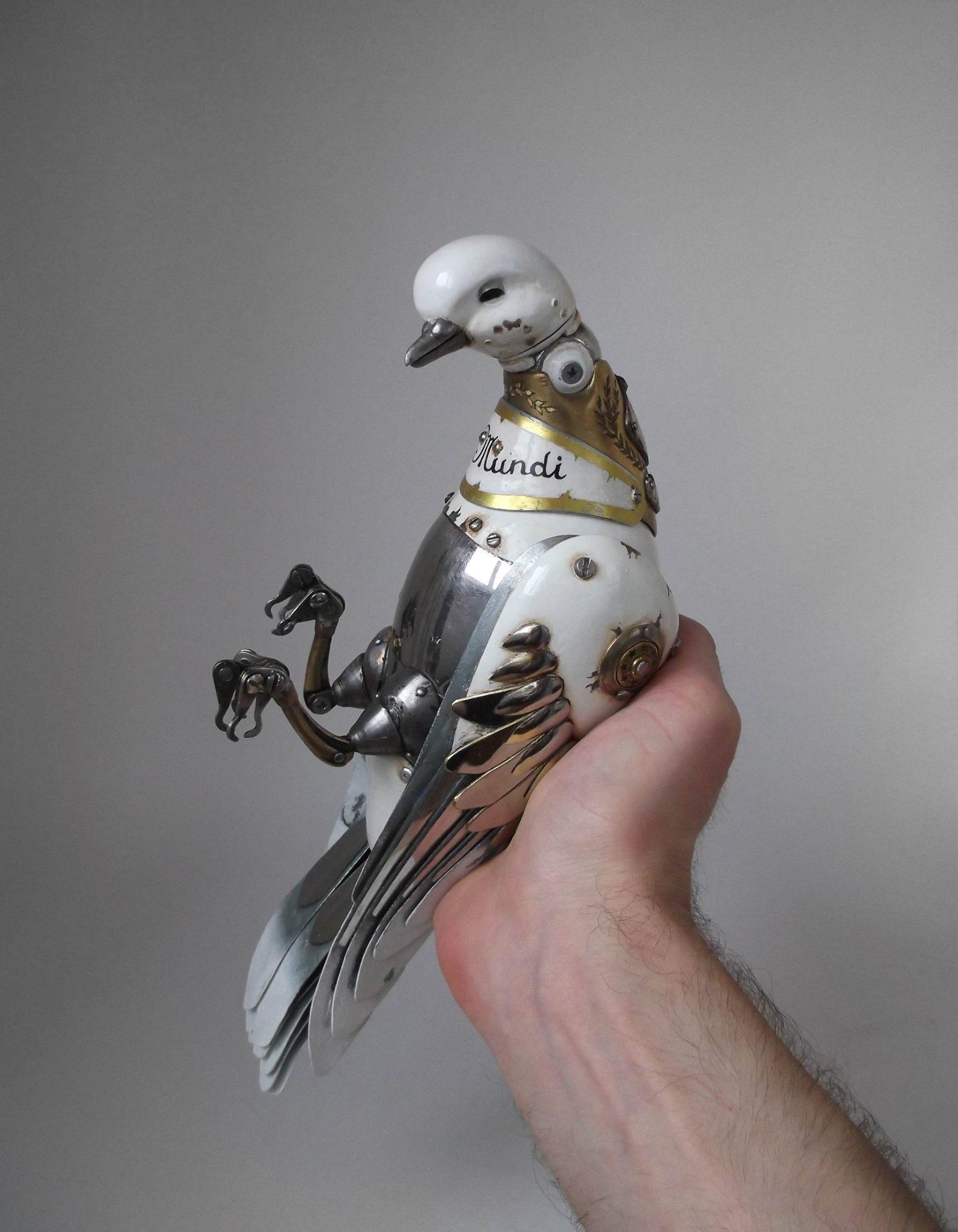 Steampunk sculptures – Igor Verniy – pigeon