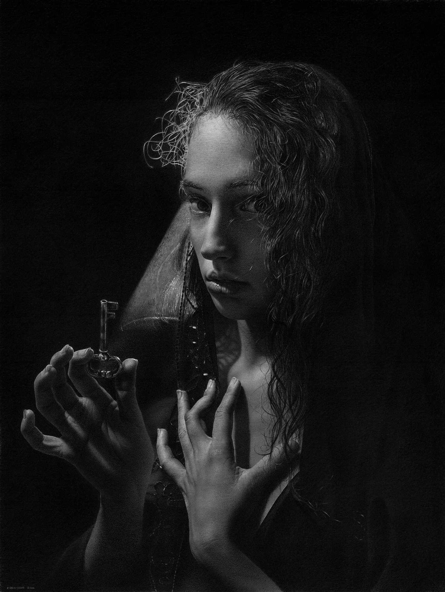 Emanuele Dascanio Artist – O Fortuna – Charcoal on paper Schoeller