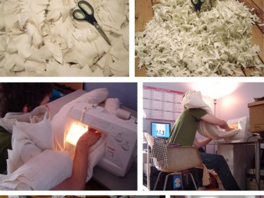 Joshua Ben Longo – Monster skin chair process – Textiles sculptures