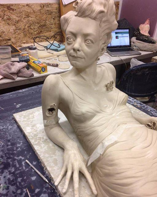 Sarah Louise Davey – Sculpture in progress