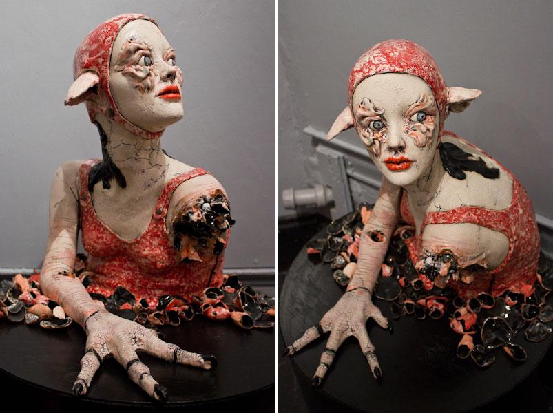 Sarah Louise Davey – Feral – Ceramic sculptures