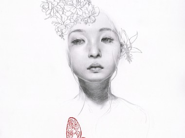 Soey Milk – The Flowering Tree- Pencil on paper