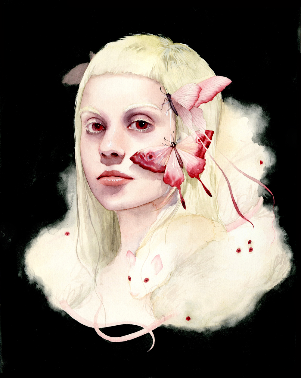 Soey Milk – yolandi visser – Watercolor and gouache on paper