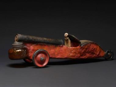 gerard cambon – Sculpture Cabriolet rouge