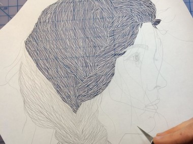 Maud White – paper cut art – wip