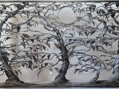 Richard Stainthorp – Forest Moon – Wire sculpture