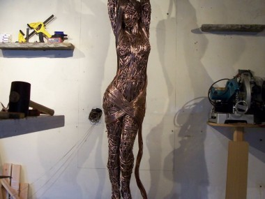 Richard Stainthorp – Wire Sculpture WIP nude