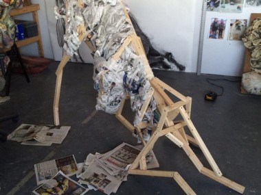Will Kurtz – sculpture cow structure