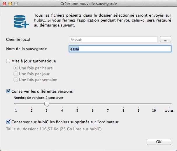 hubiC-dossiers cloud configuration