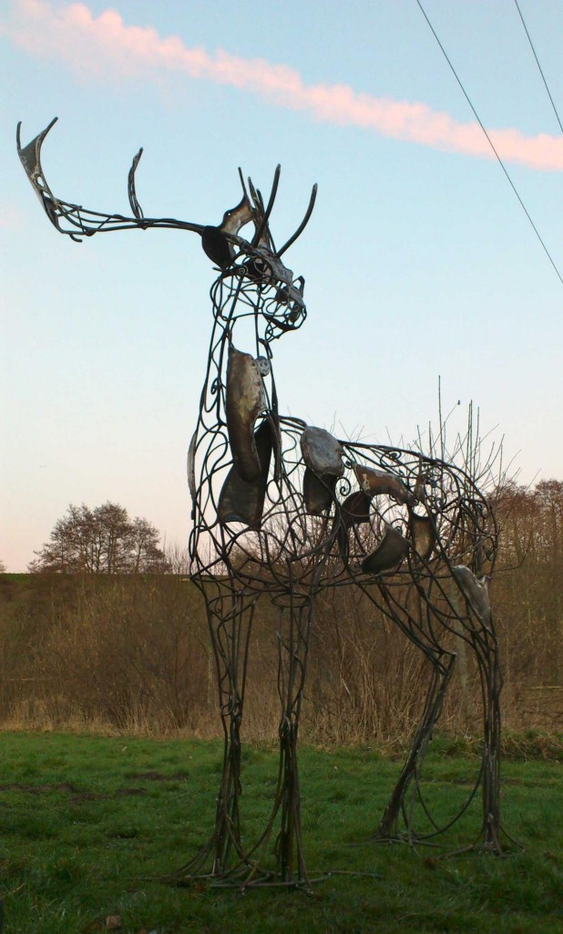 David Freedman - Deer Metal Sculptures