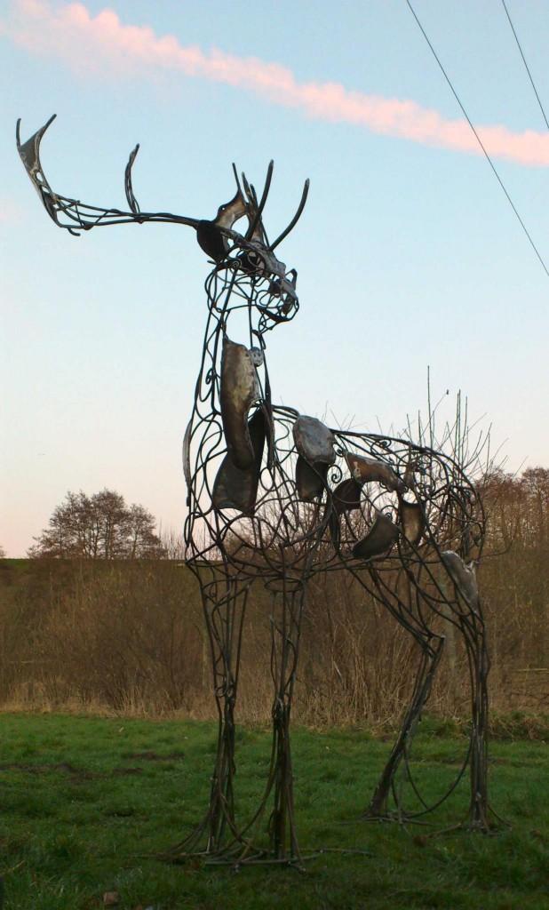 David Freedman - Deer Metal Sculptures