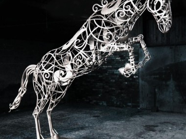 David Freedman – metal Horse sculpture