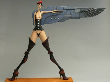 John Morris – Sculptures – Uber Girl