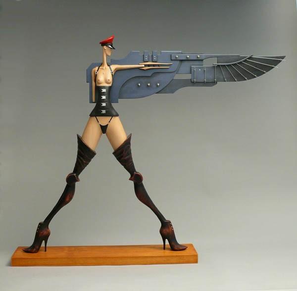 John Morris – Sculptures - Uber Girl