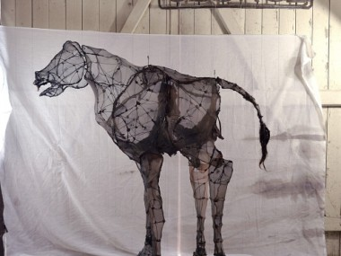 Eglantine Bacro – mixed-media artist – Nylon wire sculptures