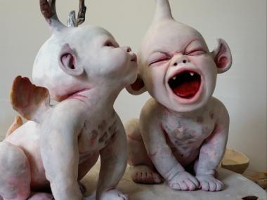 Ronit Baranga – sculptures The grave watchers childhood
