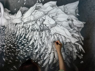 Alice Lin – faramita details – painting