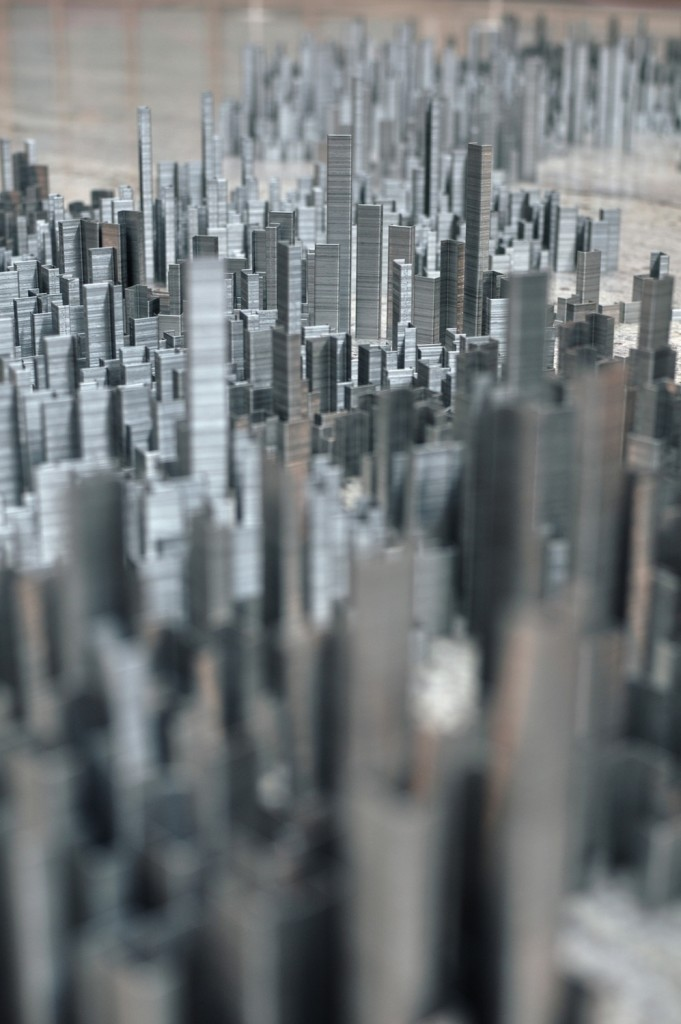 Peter Root - 100,000 staples City installation