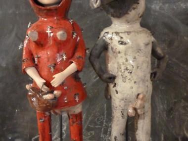 Pierre Sgamma – sculptures – le petit chaperon rouge