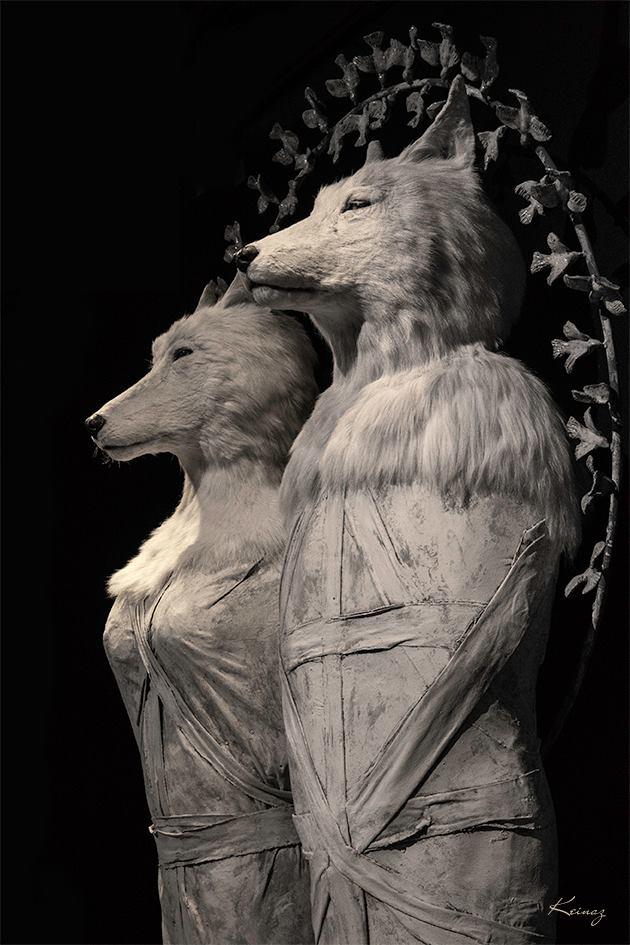 Pierre Sgamma - sculptures - les loups blancs