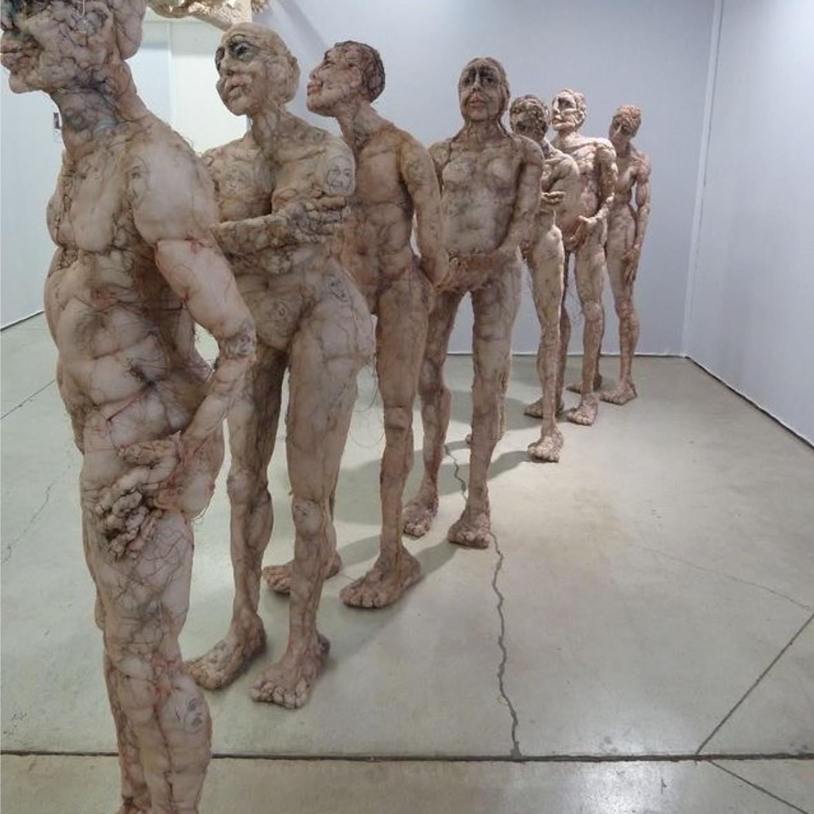 #Anne Bothuon – Textile sculptures